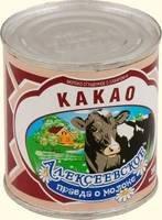 Молоко сг.с КАКАО 5% ТУ 380гр.ТМ Алексеевская АМКК