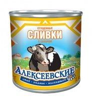 СЛИВКИ сгущенные с сахаром мдж 19% в б 7-а (360 гр) ТМ Алексеевское